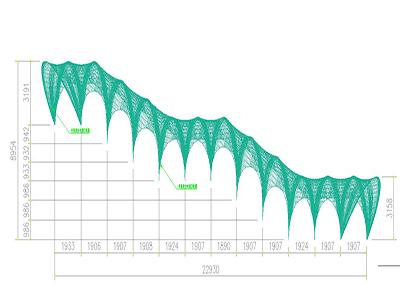 膜结构通道设计CAD 图纸