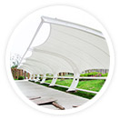 采用进口膜材设计制作的度假山庄膜结构,剧院膜结构使得膜结构和钢结构工程成为现代化的永久建筑,美观而且耐用。