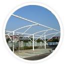 会议厅膜结构和展览中心膜结构本身具有良好的透光率,建筑空间白天可以得到自然的漫散射日光,可以节约大量用于照明的费用。